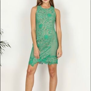 Adelyn Rae Crochet Sheath dress